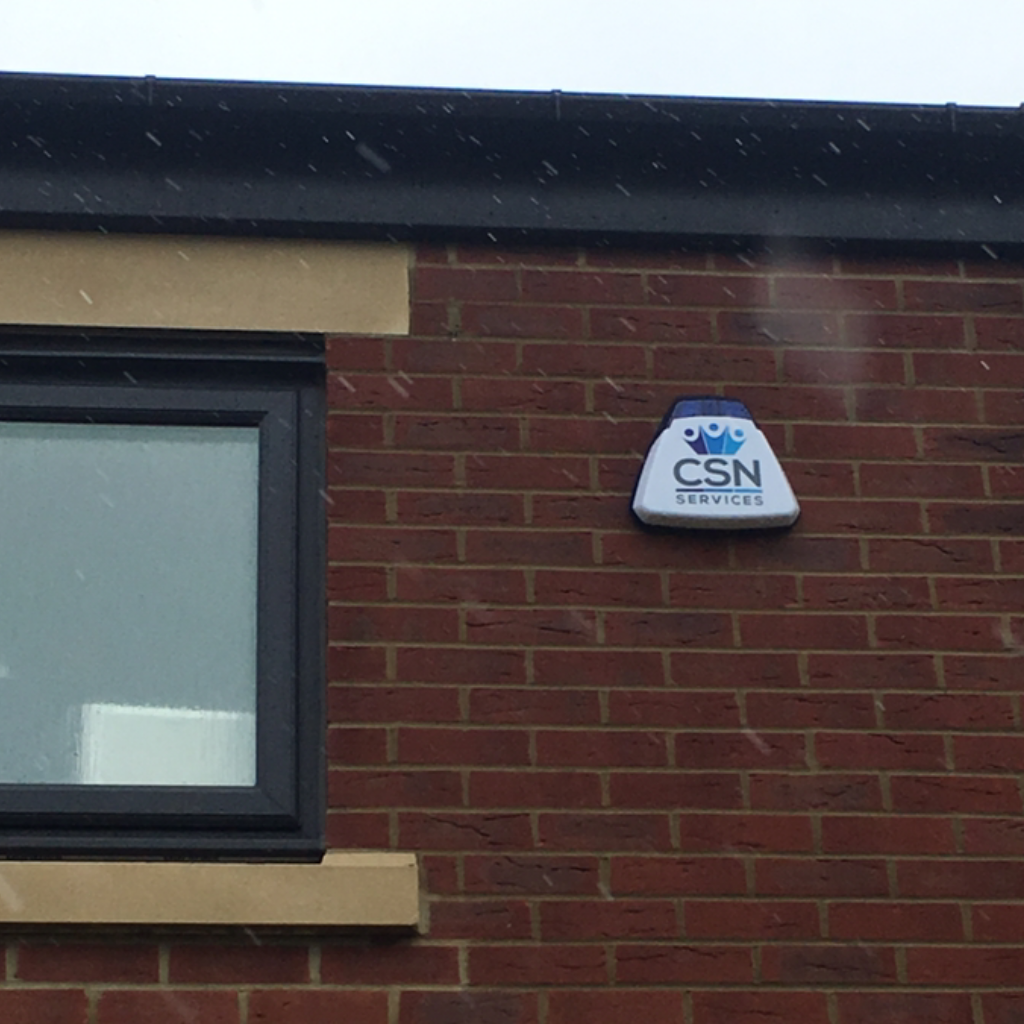 CSN Services burglar alarm bellbox installed