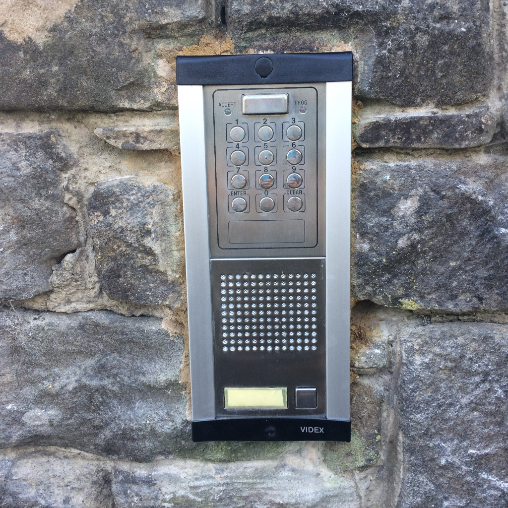 door intercom system installed